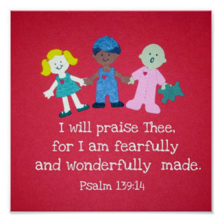Psalm 139:14 poster