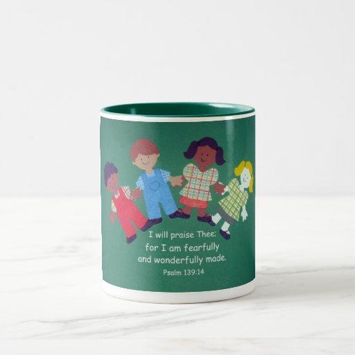 Psalm 139:14 Two-Tone coffee mug