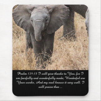 Psalm 139:15 I will give thanks bible grace peace Mouse Pad