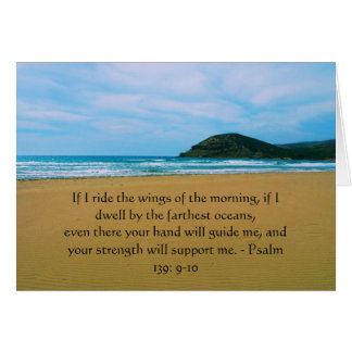 Psalm 139 9-10 BEAUTIFUL BIBLICAL QUOTATION Cards