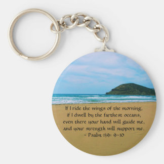 Psalm 139: 9-10 BEAUTIFUL BIBLICAL QUOTATION Keychain