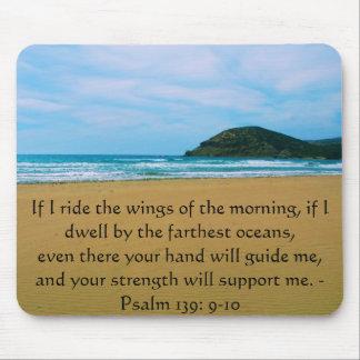 Psalm 139: 9-10 BEAUTIFUL BIBLICAL QUOTATION Mouse Pad