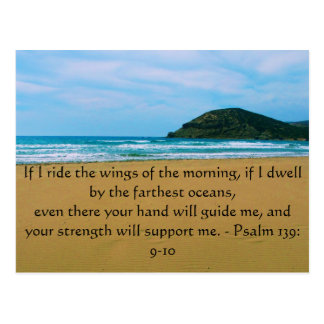 Psalm 139: 9-10 BEAUTIFUL BIBLICAL QUOTATION Postcard