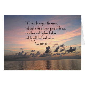 Psalm 139 9 10 greeting card