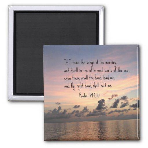 Psalm 139: 9,10 fridge magnet