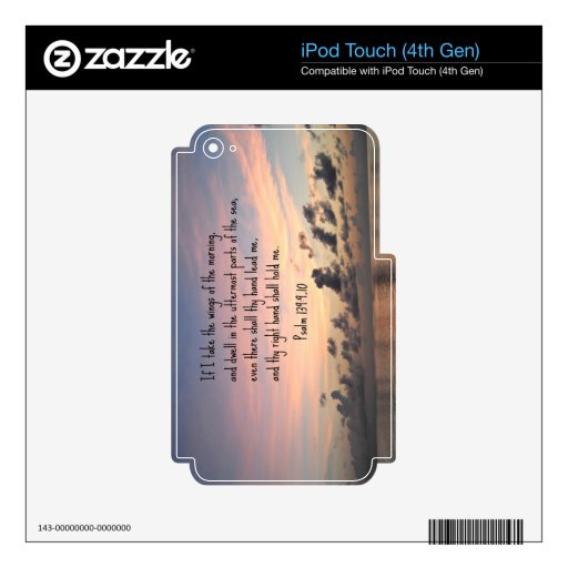 Psalm 139: 9,10 iPod touch 4G skin