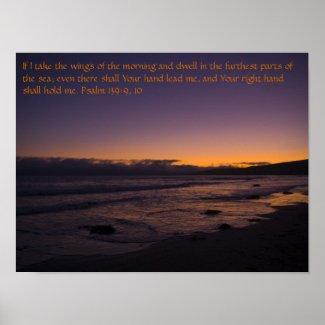 Psalm 139: 9, 10 print