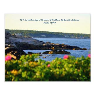 Psalm 139:9 photo print
