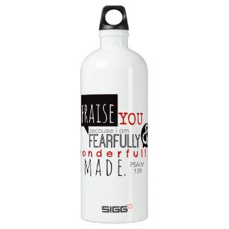 Psalm 139 - I Praise You Aluminum Water Bottle