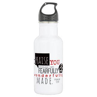 Psalm 139 - I Praise You Water Bottle