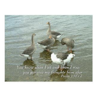 Psalm 139 v 2   Inspirational Words II Postcard