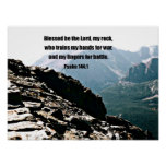 Psalm 144:1  Blessed  be the Lord... Poster
