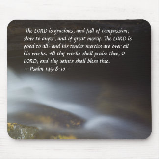 Psalm 145:8-10 Silky Water Mousepad