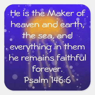 Psalm 146:6 Orange Jellyfish Sticker