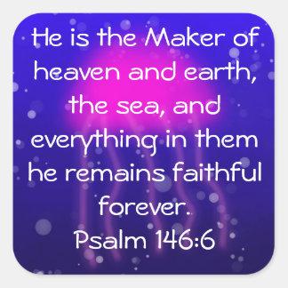 Psalm 146:6 Pink Jellyfish Sticker