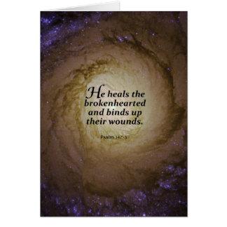 Psalm 147:3 card