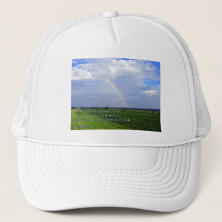 Psalm 147:8 Rainbow Trucker Hat