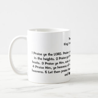Psalm 148:1-5 classic white coffee mug