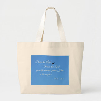 Psalm 148:1 Praise the Lord! Large Tote Bag