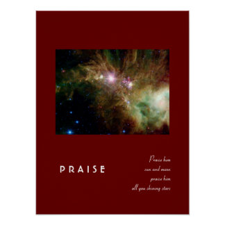 Psalm 148:3 poster