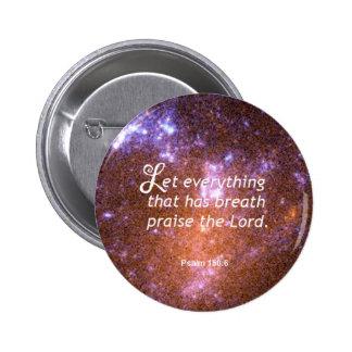Psalm 150:6 pinback button
