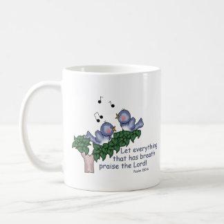 Psalm 150:6 classic white coffee mug