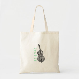 Psalm 150 String Bass Budget Tote Bag