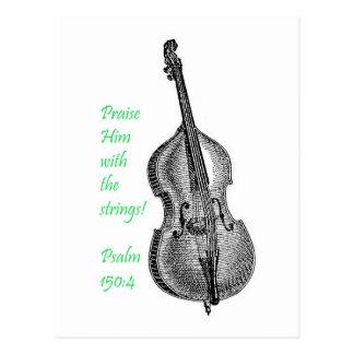 Psalm 150 String Bass Postcard