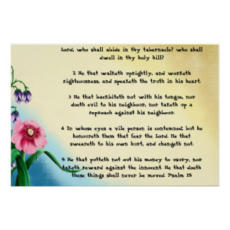 Psalm 15 poster