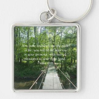 Psalm 16:11 French Creek Bridge Keychain
