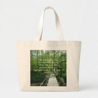 Psalm 16:11 French Creek Bridge Large Tote Bag