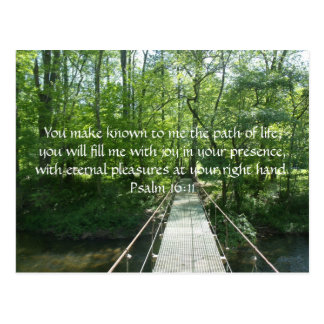 Psalm 16:11 French Creek Bridge Postcard