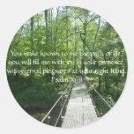 Psalm 16:11 French Creek Bridge Round Stickers