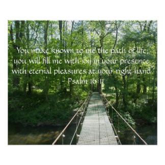 Psalm 16:11 Poster