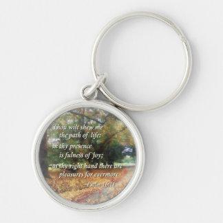 Psalm 16:11 Thou wilt shew me the path Keychain