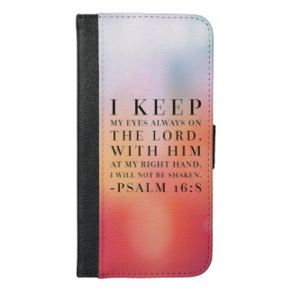Psalm 16:8 Bible Quote iPhone 6/6s Plus Wallet Case