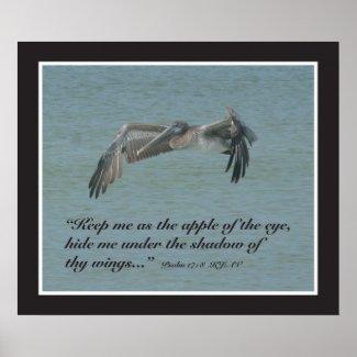 Psalm 17:8 Scripture Print print