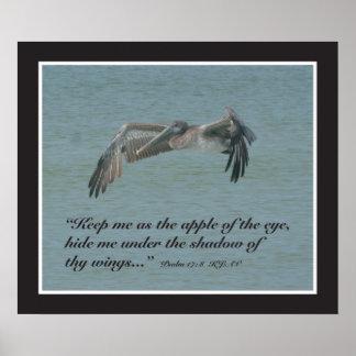 Psalm 17:8 Scripture Print