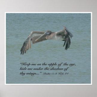 Psalm 17:8 Scripture Print, Version B