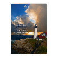 Psalm 18:28 Lighthouse Photo Acrylic Print