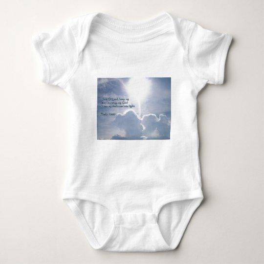 Psalm 18:28 Shining Clouds Baby Bodysuit