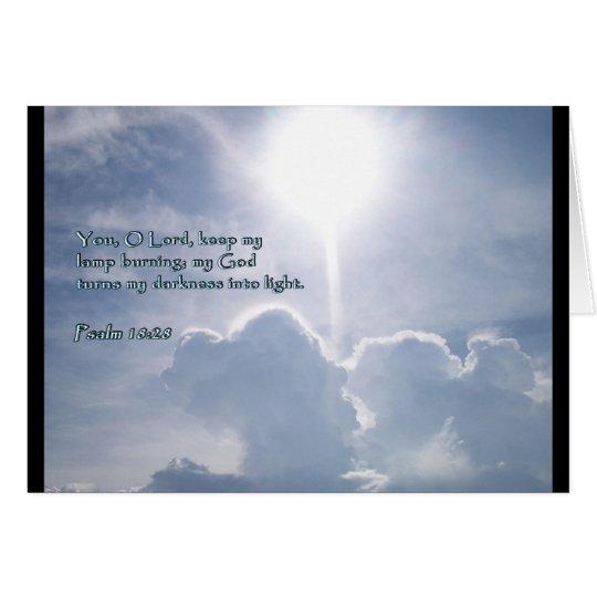 Psalm 18:28 Shining Clouds Card