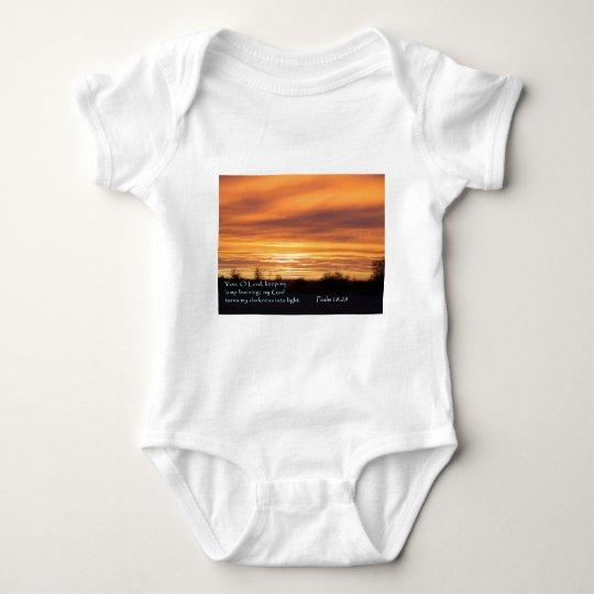 Psalm 18:28 Sunrise Baby Bodysuit