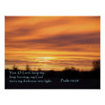 Psalm 18:28 Sunrise Posters