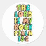 Psalm 18:2 classic round sticker