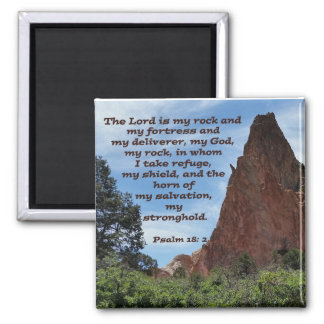 Psalm 18: 2 2 inch square magnet