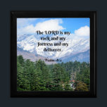 """Psalm 18 2, The Lord is my rock and my fortress... Gift Box<br><div class=""""desc"""">Scripture verse,  Psalm 18:2,  The Lord is my rock and my fortress and my deliverer.</div>"""