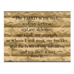 Psalm 18:2 The Lord is my rock and my fortress Post Card