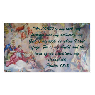 Psalm 18:2 Witness Card Double-Sided Standard Business Cards (Pack Of 100)