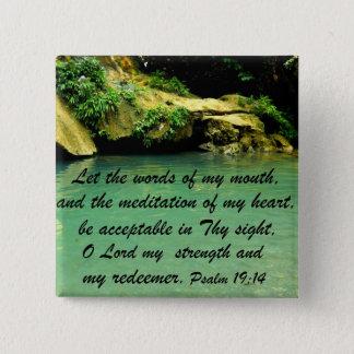 Psalm 19:14 pinback button